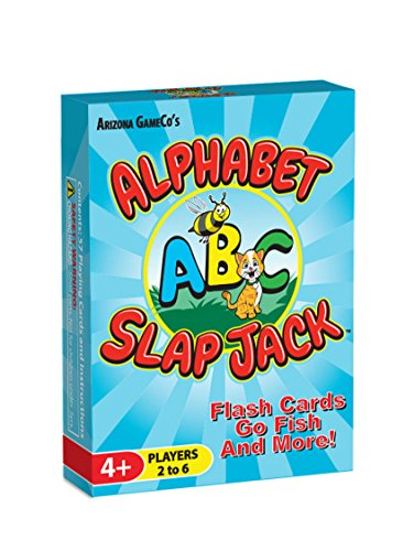 Alphabet Slap Jack ~ a 4-in-1 ABC Letter Learning Card Game (Slap Jack, Go Fish, Letter Flash Cards, and Other Fun Preschool Alphabet Learning (Letter Learning Game)