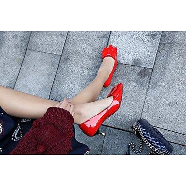Us5 Pu Tacchi Donna Casual poliuretano Lvyuan Black Comoda Piatto Da Eu35 Primavera Uk3 Nero Cn34 Rosso Autunno ggx xqXwCR6g