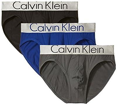 Calvin Klein Men's Underwear 3 Pack Steel Micro Briefs, Black/Dark Midnight/Mink, Medium