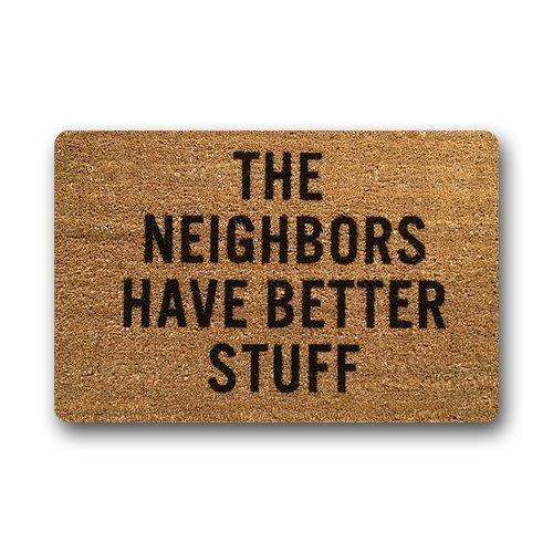 Customs Funny Halloween (Custom Machine-washable Door Mat Funny Doormat Indoor/Outdoor Doormat 23.6(L) x 15.7(W) Inch-The Neighbors Have Better Stuff)
