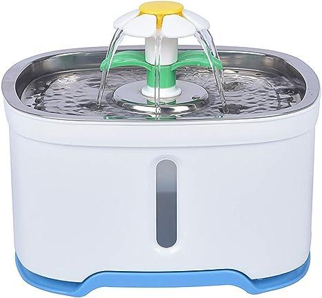 JFUNE Fuente para Gatos, Dispensador de Agua para Perros de 2.5L ...