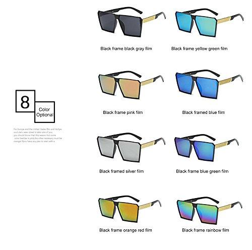 mujer Gafas y Rubber gafas for calidad sol para de polarizadas espejo renden gafas alta sol Vintage nerd de hombre Retro retro nbsp;reflectantes efecto Mode Unisex diseño de Espejo 6 UV400 Gafas sol Matte rXr6qOnxp