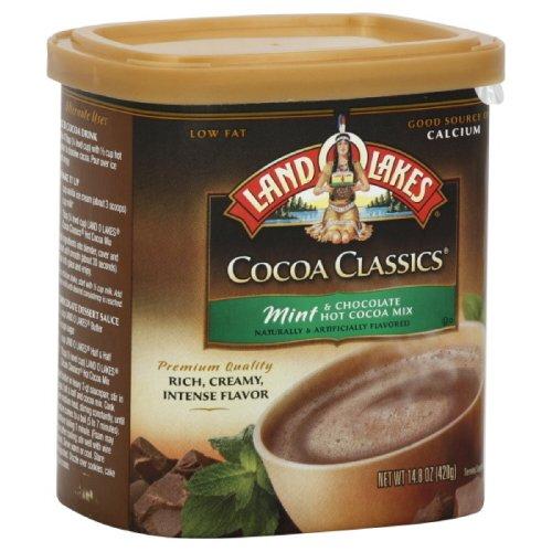 Land O Lakes Hot Cocoa Mix, Mint & Chocolate, 14.8000-ounces (Pack of3) (Ate O)
