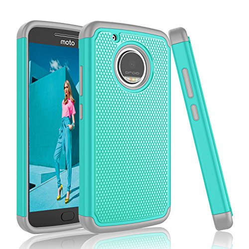 Moto G5 Plus Case, Tinysaturn [YSaturn Series] [Turquoise] Shock Absorbing Slim Rubber Scratch Resistant Defender Bumper Rugged Hard Shell Case Cover For Motorola Moto G Plus(5th Generation) 2017