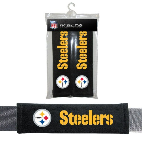 Fremont Die NFL Pittsburgh Steelers Seat Belt Pad (Team Official Belt Buckle)