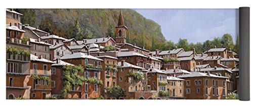 Pixels Yoga Mat w/ Bag ''Sul Lago Di Como'' by Pixels