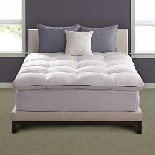 Pacific Coast Hotel Deluxe Baffle Box Mattress Topper 230 Thread Count 100% Feathers - - Mattress Coast Pacific Pad