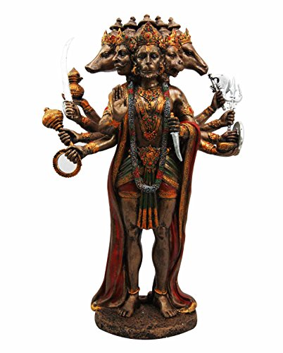 Panchamukhi Hanuman Monkey Hindu God Decorative Figurine