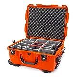 Nanuk 955 Waterproof Hard Case with Wheels and Padded Divider - Orange