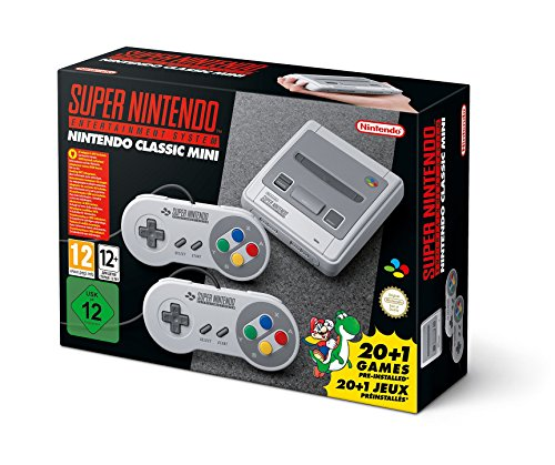 SNES Nintendo Classic Mini: Super Nintendo Entertainment System (Europe), Not Region Locked (Super Nintendo Flashback)