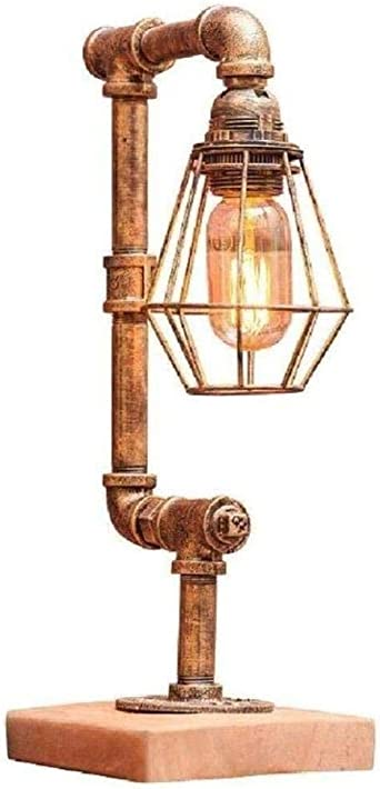 Lámpara De Mesa,Lámpara De Tubo De Agua De Hierro Retro Lámpara De ...