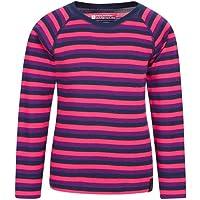 Mountain Warehouse El Merino Embroma la Tapa Termal de Baselayer - te de los niños Redondos del Cuello, Camiseta Ligera…