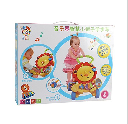 Baby Walker Baby Early Learning Puzzle Multi-Function Walker with Music Little Lion Anti-Rollover Cart by Baby walker (Image #4)