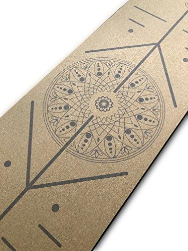 Focused Lyfe Natural Eco-Conscious Jute Yoga Mat (Cork Precision Mandala)