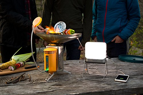 BioLite BaseLantern XL, Bluetooth Camping Lantern and Power Hub Flatpack 500 Lumen Lantern and XL 12000mAh Hub with 2 USP Outputs for Charging, App for Additional Lighting Controls, 5 x 5 x 1.7 In