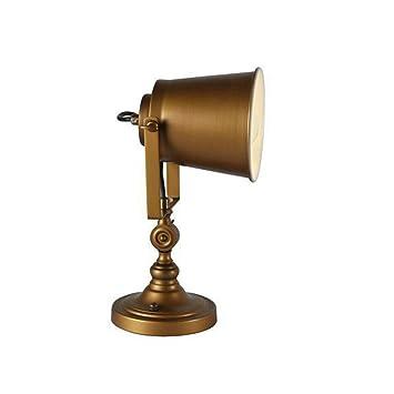 Hongou Tischlampe Jugendstil Design Schreibtischlampe Gold Eisen