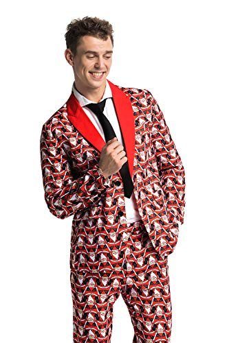 (Men's Ugly Christmas Suit Funny Fat Santa Party Costume - Freaky Fat)