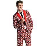 Men's Ugly Christmas Suit Funny Fat Santa Party Costume - Freaky Fat Santa