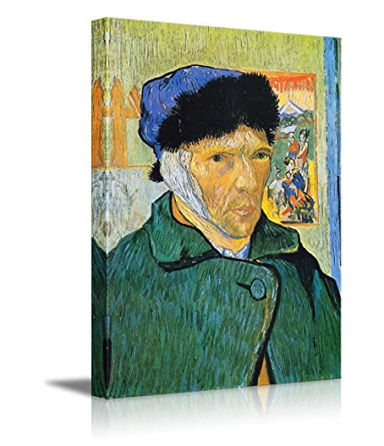 Self Portrait with Bandaged Ear by Vincent Van Gogh Print Famous Painting Reproduction
