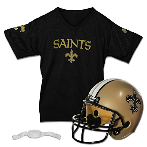 Franklin Sports NFL New Orleans Saints Replica Youth Helmet and Jersey Set]()
