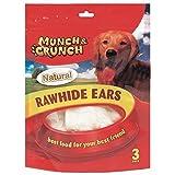 6 Raw Hide Ears Natural /2 Packs of 3