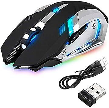 Aoile Souris Optique sans Fil Portable pour PC de Bureau