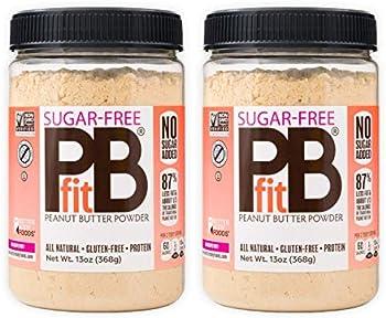 2-Pack PBfit Sugar-Free Peanut Butter Powder, 13 Ounce