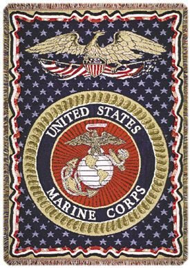 (Simply Home U.S. Marines Triple-Layer Throw Blanket)