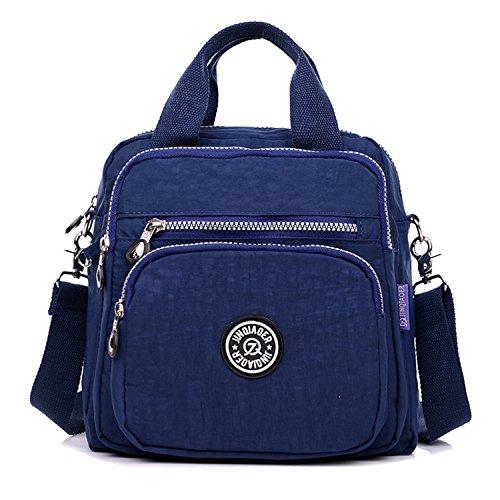 de de al resistente bolso Niñas mano de Azul agua Mochila bolso Crossbody superior tianhengyi bolso asa multifunción nylon marino f6Aq11w7
