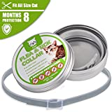 COSYWORLD Flea and Tick Collar - 8 Months Continues Prevention and Protection for Cats and Kittens - Waterproof, Adjustable, Hypoallergenic and Ultra Safe Insect Repellent with Natural Essential Oils
