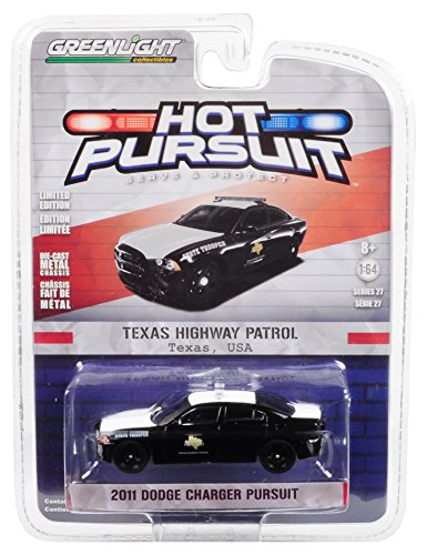 Texas Highway Patrol Greenlight 42840-E Hot Pursuit Series 27 2017 Dodge Charger Pursuit 1:64 Scale Diecast