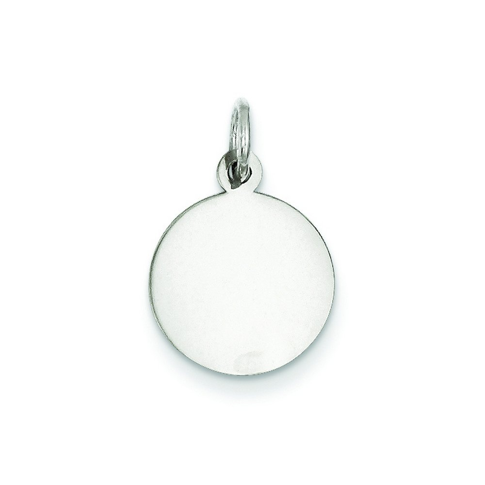 Sterling Silver Engraveable Round Disc Charm