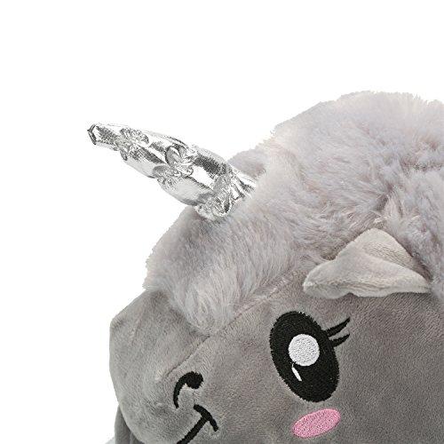 Chic Disegno Unicorno Calde a Peluche Pantofole di Grigio Mailanda Très Adulti dqSdR