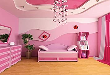 Buy Baocicco 8x6 5ft Vinyl Princess Bedroom Backdrop Photography Background Pink Room Cute Decoration Style Lovely Princess Bed Creative Bookstore Girls Birthday Party Girls Princess Portrait Online At Low Price In India