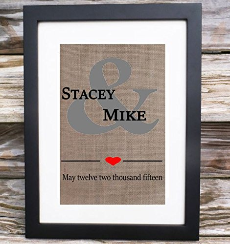 Wedding Gift Ideas For Bride And Groom.Amazon Com Personalized Ampersand Wedding Gift For Couple