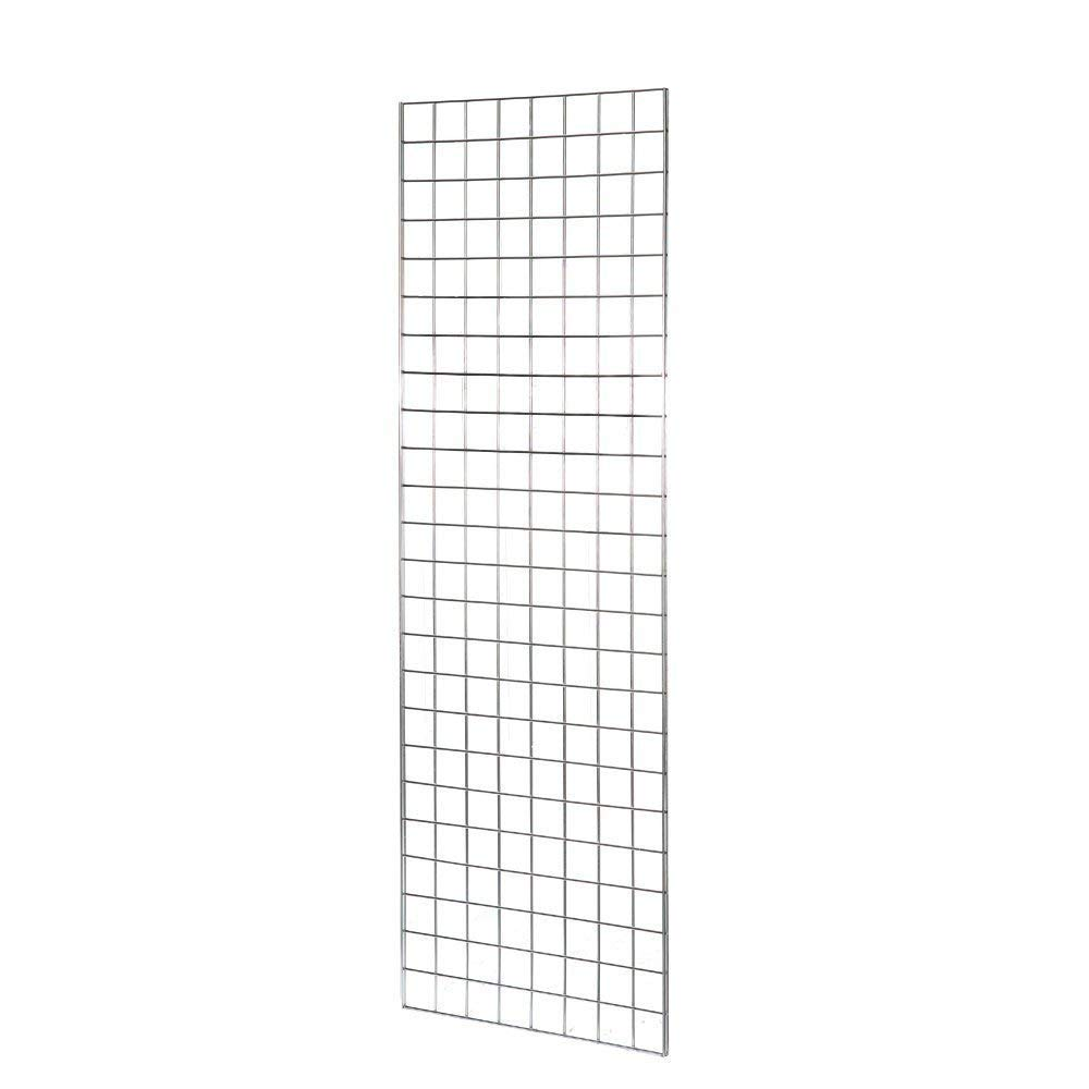 Size: 4ft x 2ft 1 x 4FT GRIDWALL// GRID WALL MESH CHROME DISPLAY PANEL