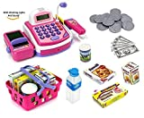 Prextex Pretend Play Electronic Toy Cash Register With Mic Speaker And Play Money Included Christmas Gift For Kids