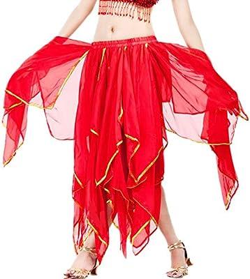 Zoueroih Vestido Latino Mujer para Danza Baile de Gasa for Mujer ...