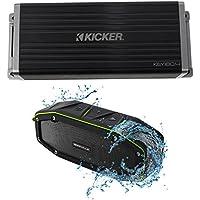 KICKER 45KEY1804 180w 4-Channel Smart Amplifier Amp KEY180.4 + Bluetooth Speaker