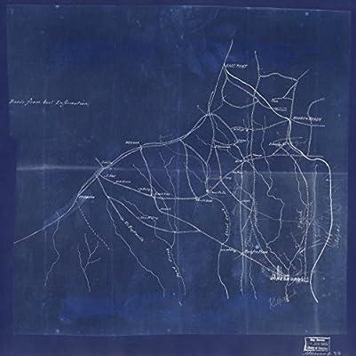 Map Of Jonesboro Georgia.Amazon Com Vintography 18 X 24 Blueprint Style Reproduced Old Map