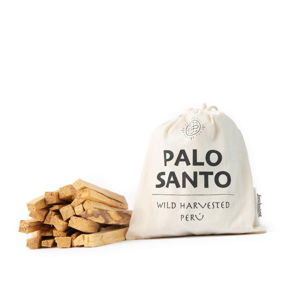 Luna Sundara Palo Santo Smudging Sticks from Peru Sustainably Harvested Quality Hand Picked - 100 Grams (Approximately 13-18 Sticks) by Luna Sundara