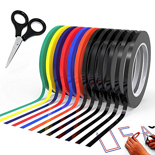 Graphic Chart Tape Art Tape Whiteboard Tape Vinyl Tape 12 Pacs 1/8