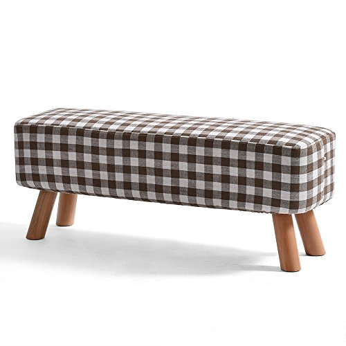 Price comparison product image ZAYJD XRXY Creative Cloth Footstool / Changing His Shoes Stool / Bench Solid Wood Sofa Stool (6 Sizes Optional) (Color : B,  Size : 8735cm)