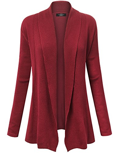 MBJ Womens Open Front Draped Knit Shawl Cardigan