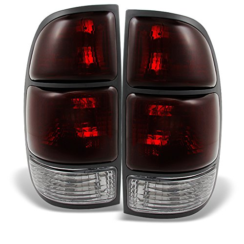 For Toyota Tundra Pickup Truck Red Smoke Lens Rear Tail Lights Brake Lamps Replacement Pair Left+ Right