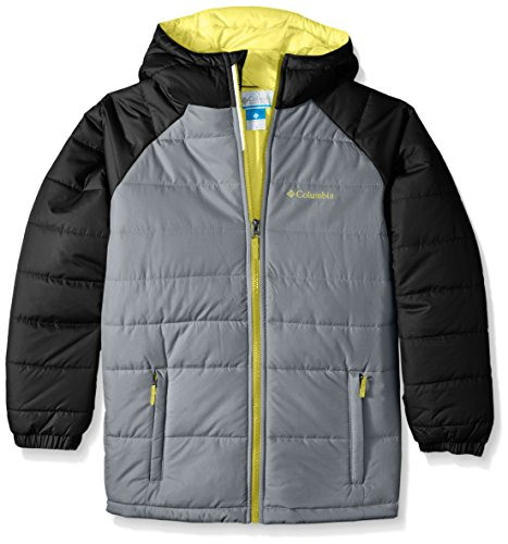 Columbia Little Boys' Tree Time Puffer Jacket, Grey Ash, XX-Small