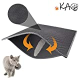 "KAG Cat Litter Mat Litter Trapper Large Size 30"" X 24"", Honeycomb Double-Layer"