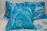 Turquoise blue pillow cover