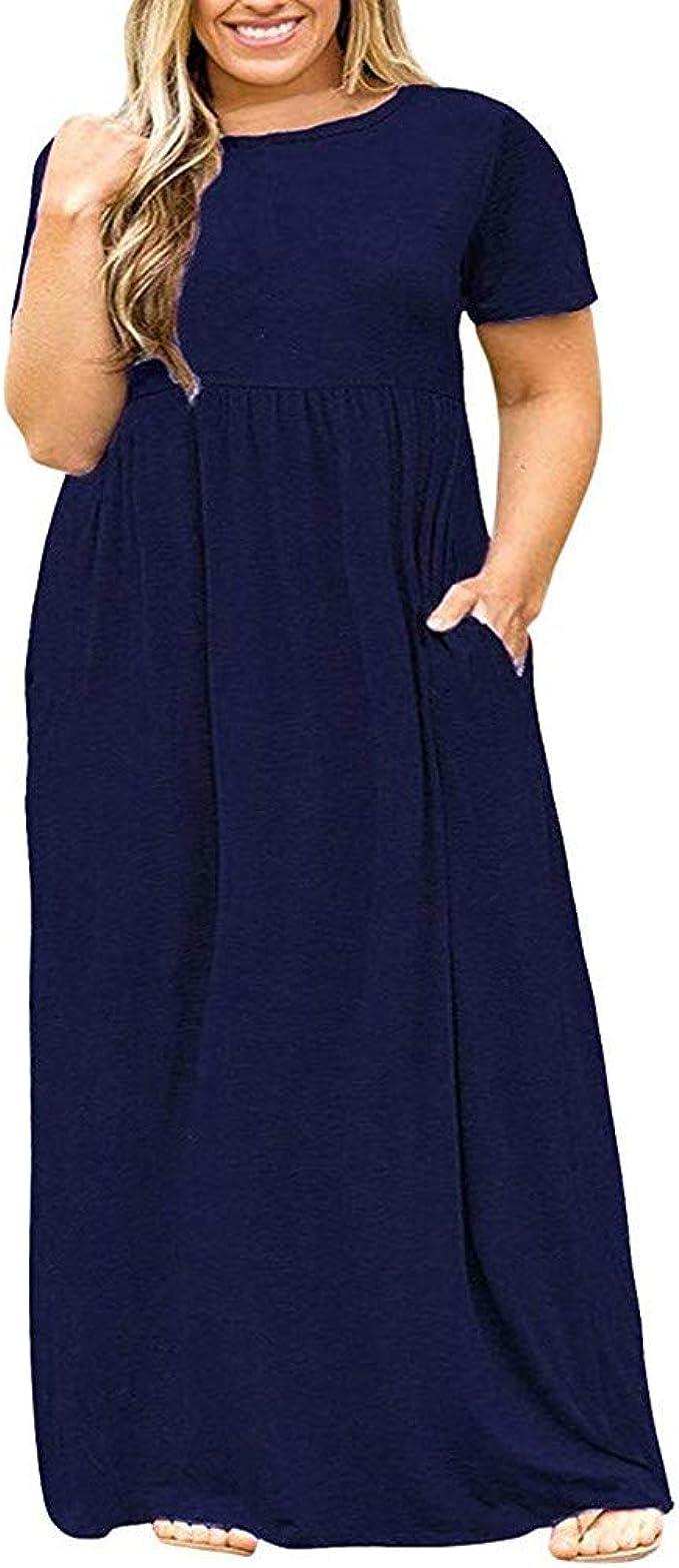 Pitashe Damen Kleider Sommer Strandkleid Mode Sommerkleid Große