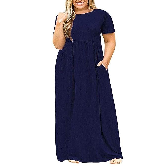 Chaofanjiancai_Dress Chaofanjiancai Dress Women Loose Plain Maxi Dress